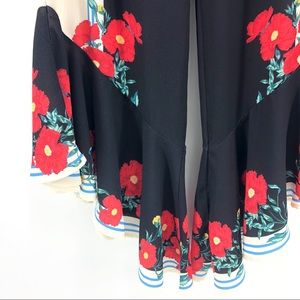Flying Tomato Pants - Flying Tomato Floral Flare Leg Pants Soft Stretchy